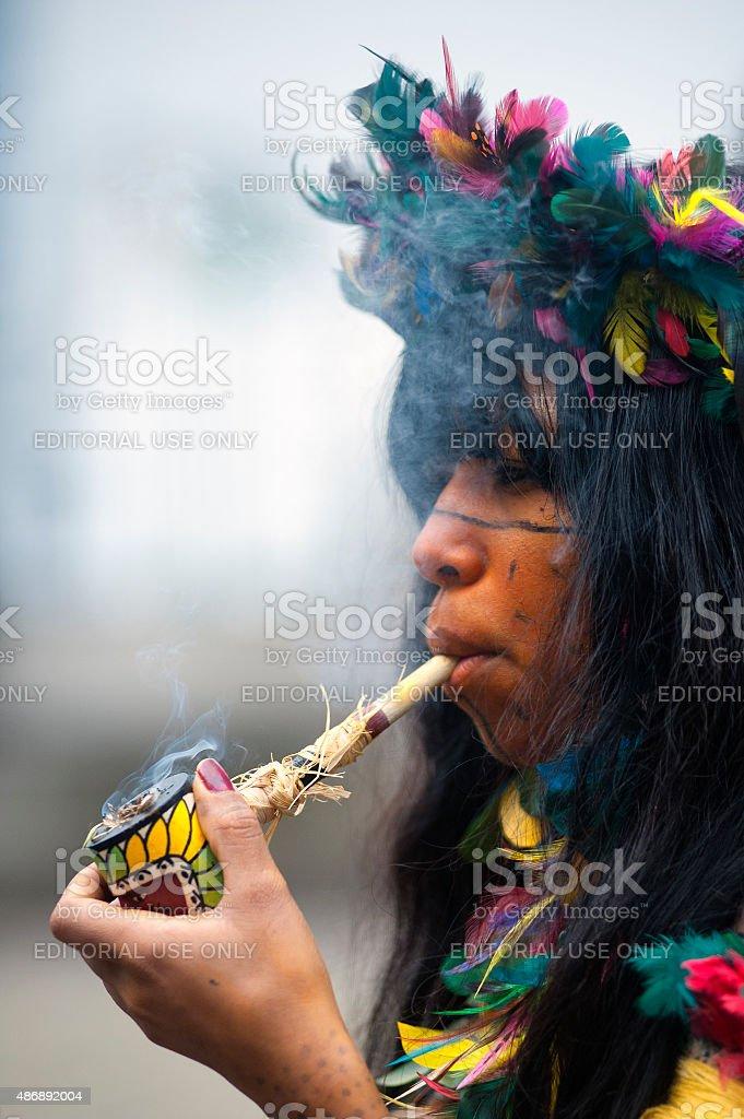 Pataxó Ethnic stock photo