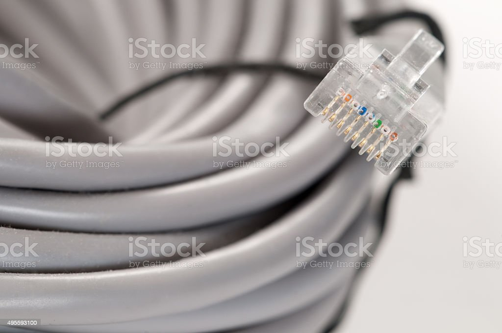 Patch cord stock photo