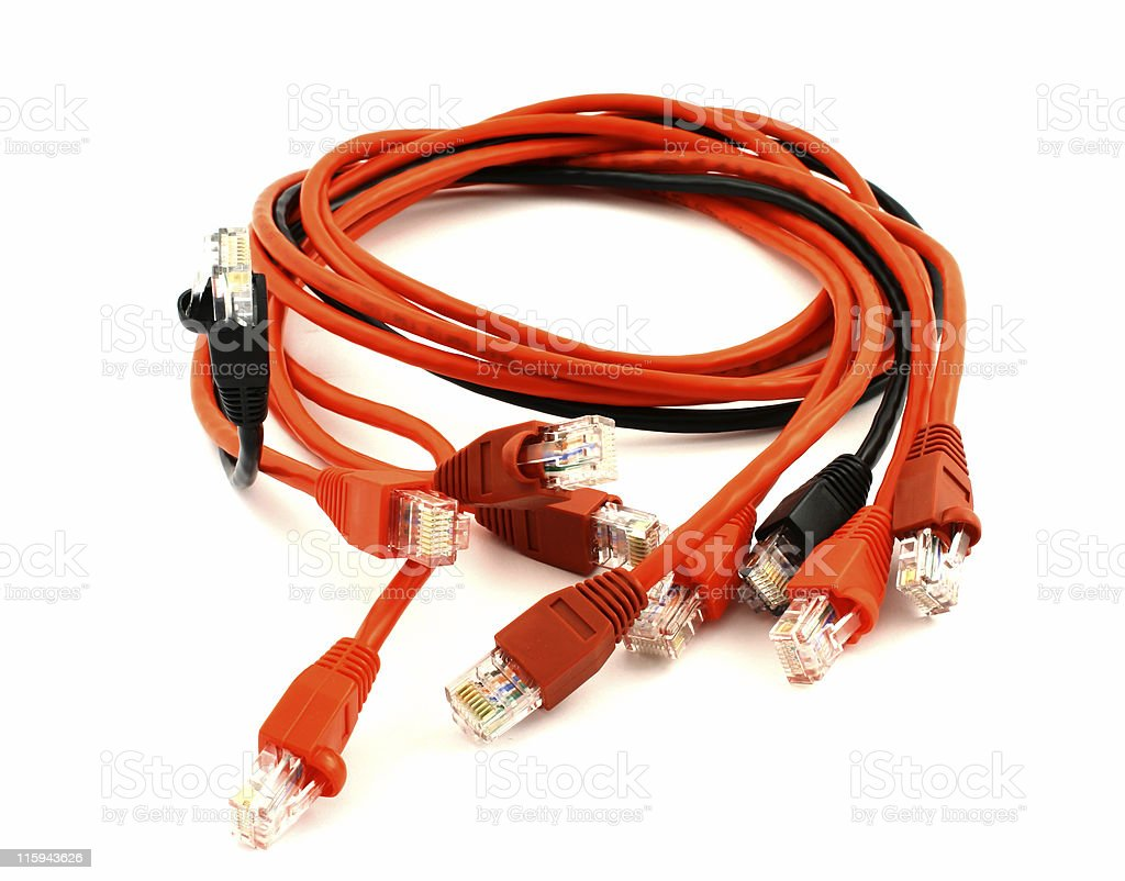 Patch cords royalty-free stock photo