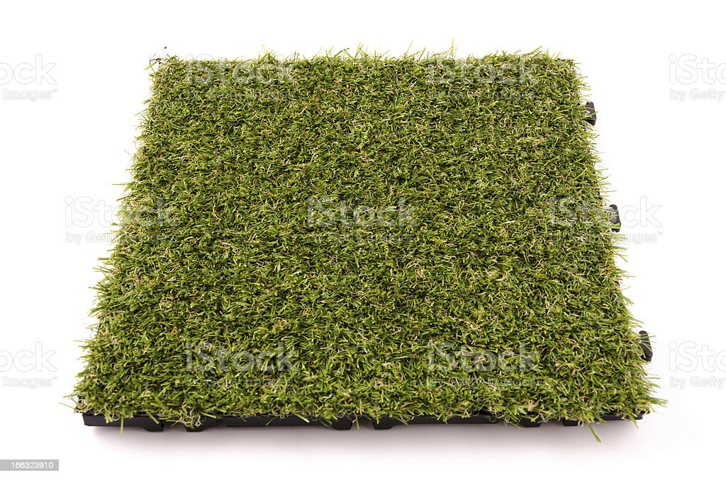 Patch of Artificial Turf stock photo