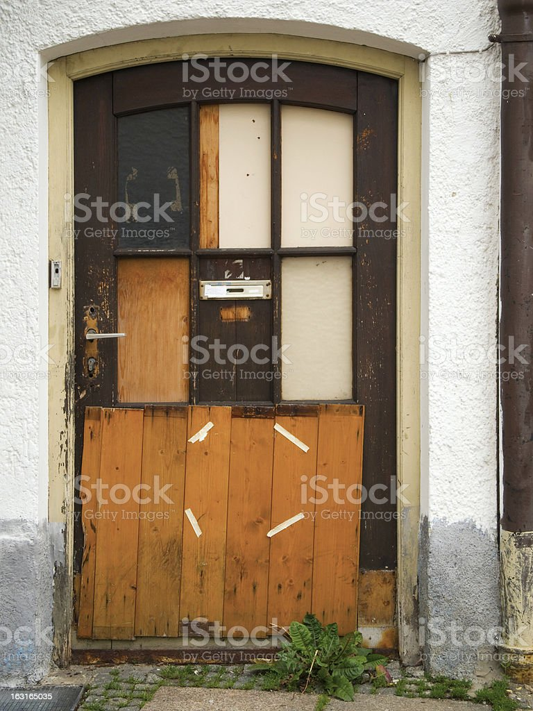 patch up door royalty-free stock photo