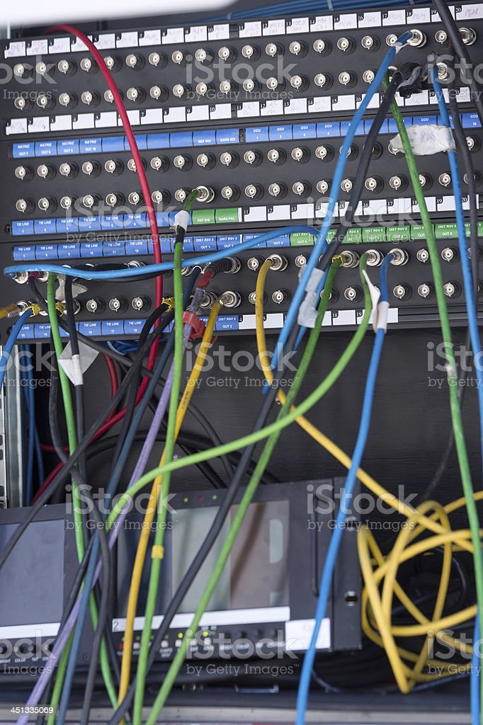 Patchboard royalty-free stock photo