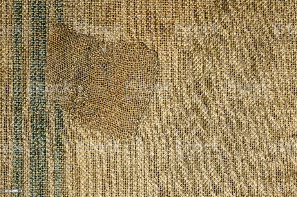patched bag royalty-free stock photo