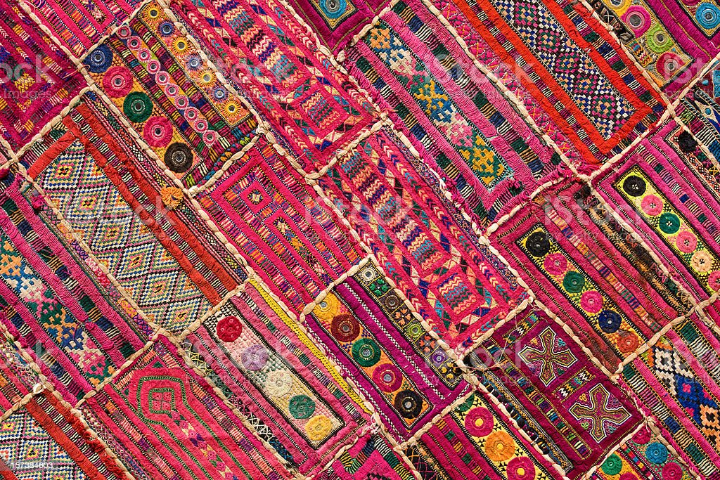 Patchwork carpet stock photo