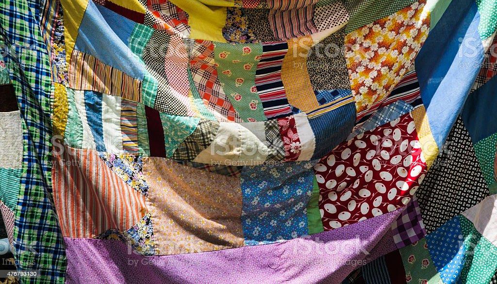 Patchwork Crazy Quilt stock photo