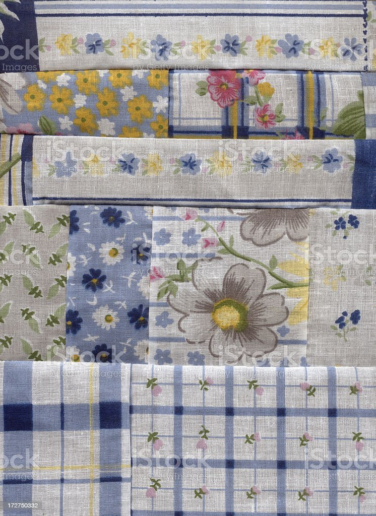 Patchwork detail stock photo