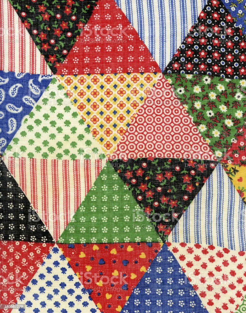 Patchwork Fabric Background royalty-free stock photo