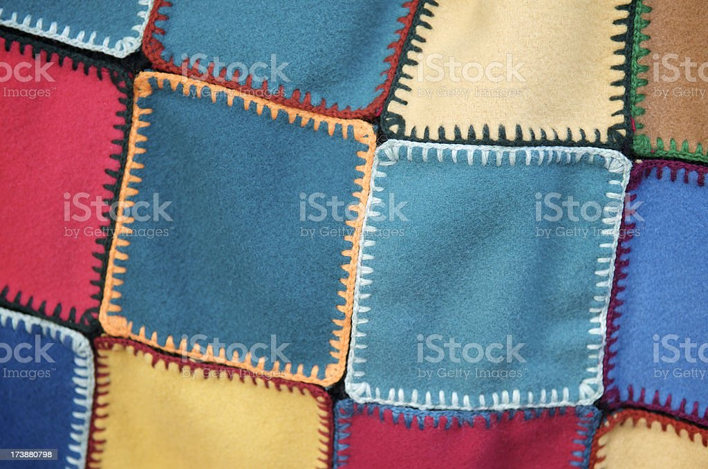 Patchwork Felt Squares Background royalty-free stock photo