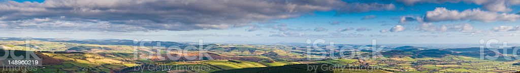 Patchwork landscape rolling hills farms royalty-free stock photo