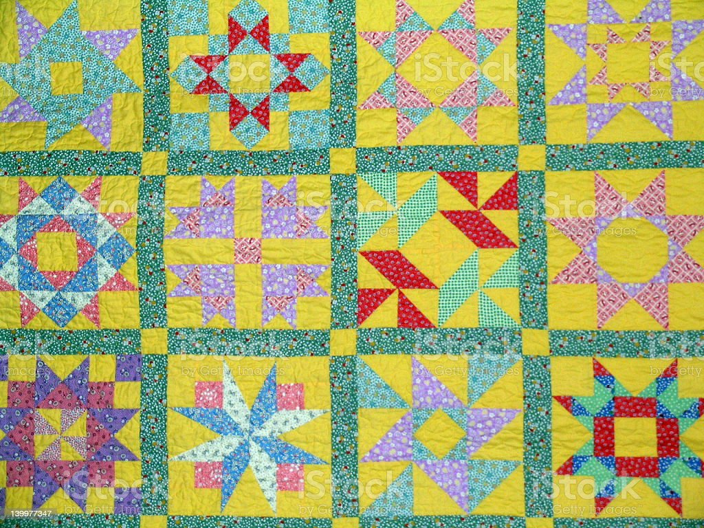 Patchwork Quilt at County Fair royalty-free stock photo