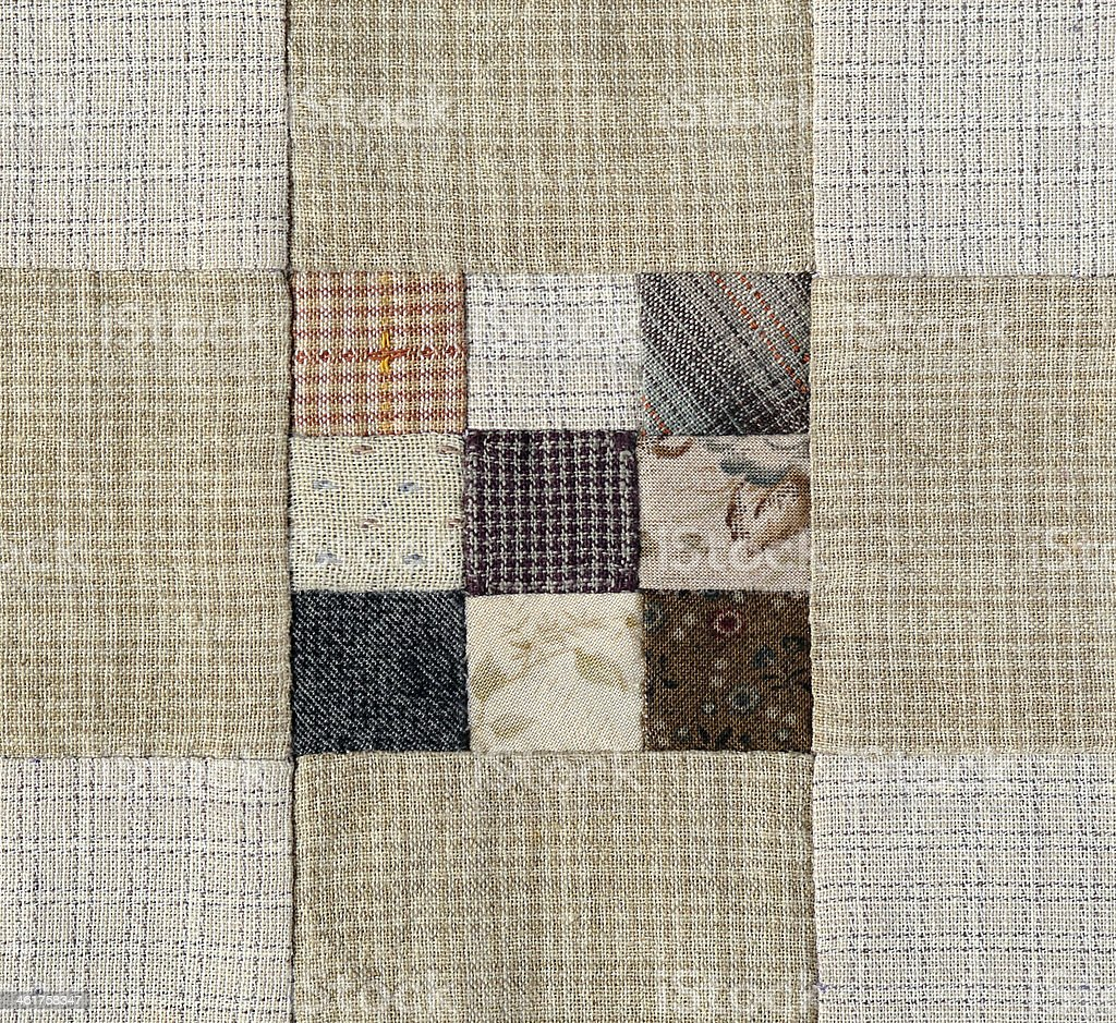 Patchwork Quilt , Basic pattern square royalty-free stock photo