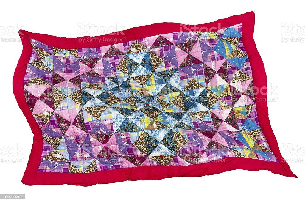 patchwork quilt stock photo