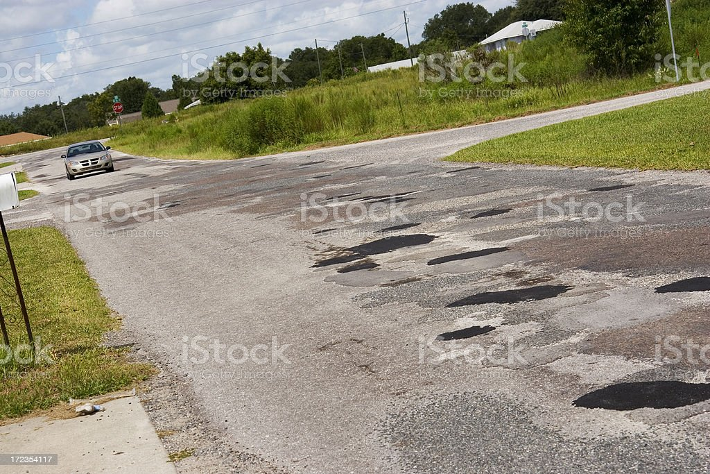 Patchwork Road royalty-free stock photo