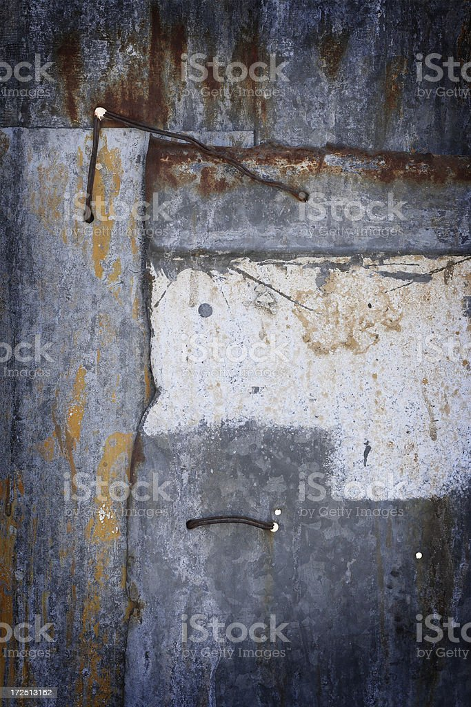 Patchy Rusty Grungy stock photo
