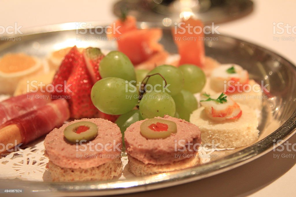 Pate Appetizer Plate stock photo