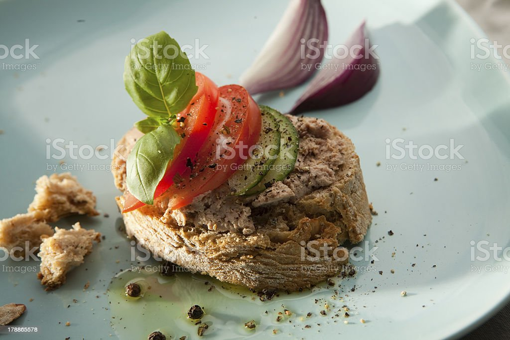 Pate Sandwich on Plate. royalty-free stock photo