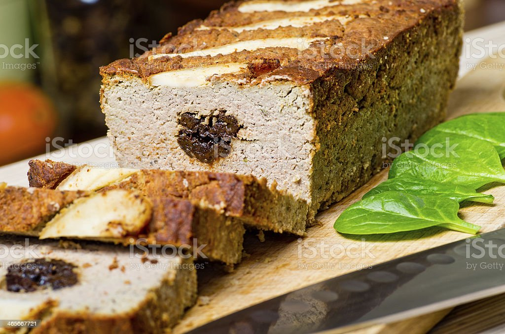 Pate stuffed with prunes royalty-free stock photo