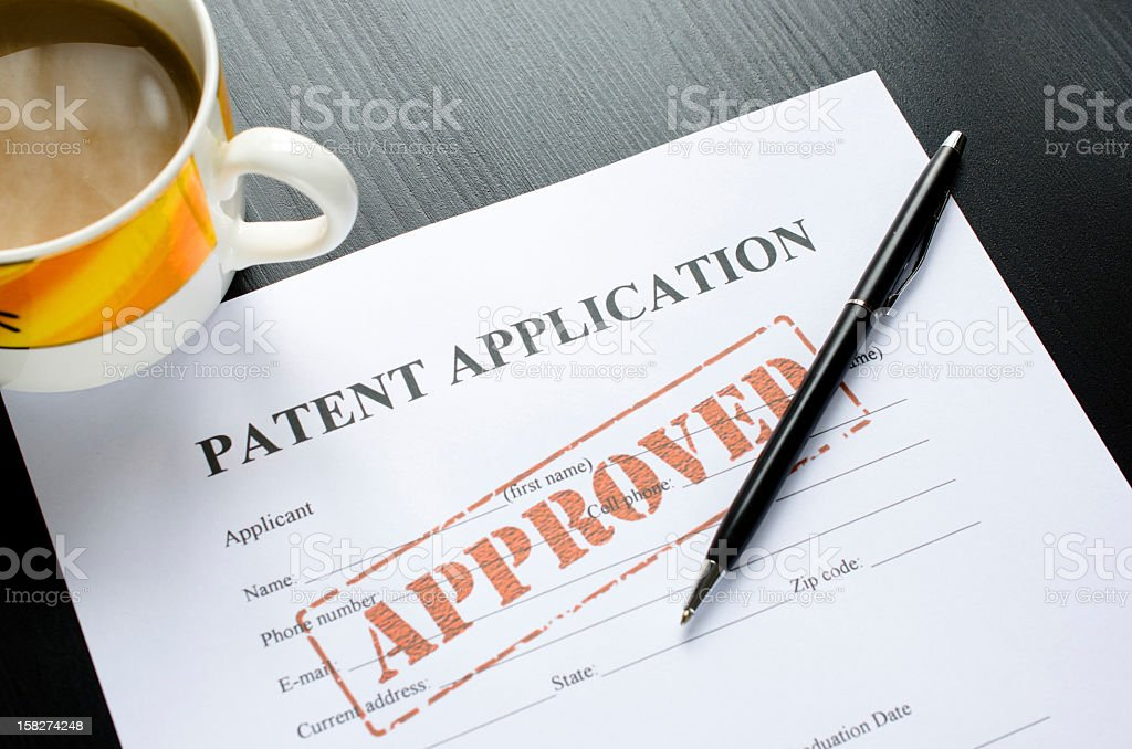 patent application - approved stock photo