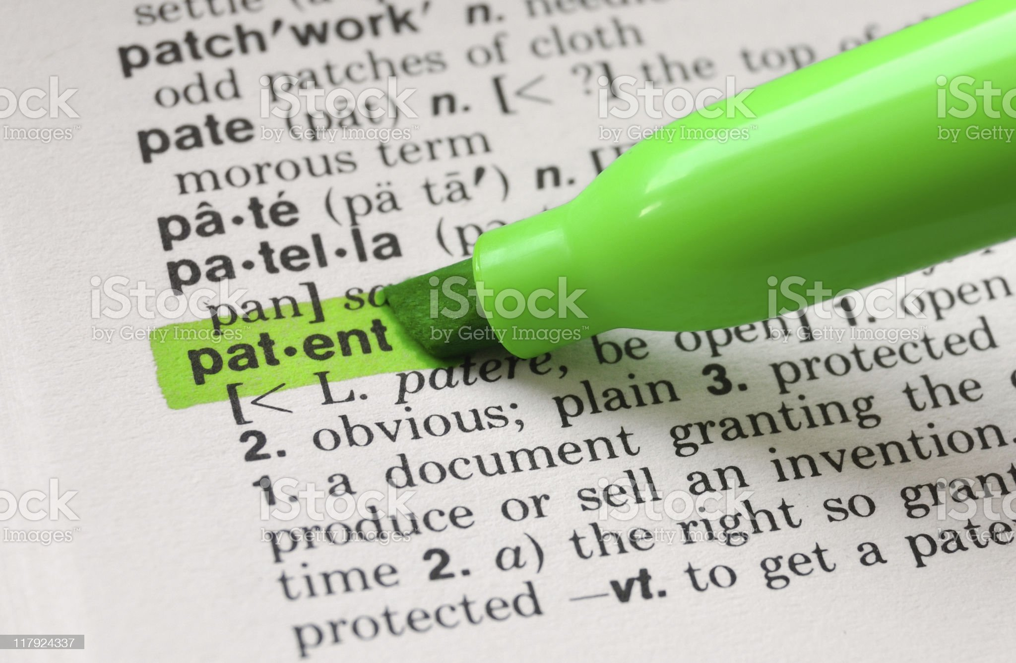 Patent  Defined royalty-free stock photo