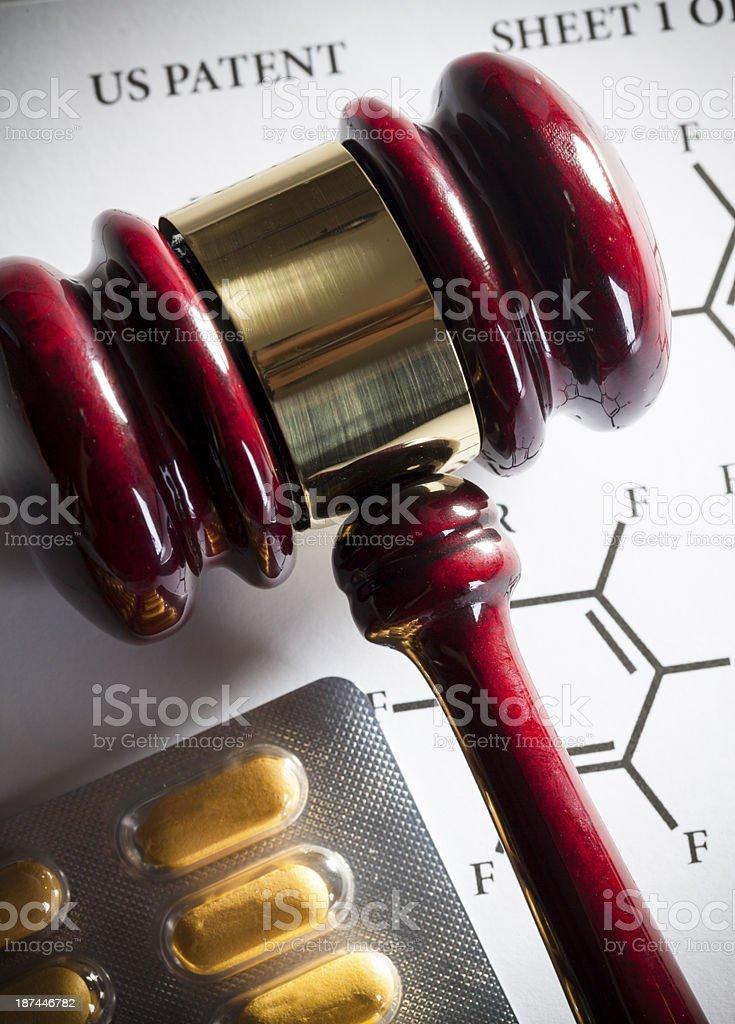 Patent law - Pharmaceutical stock photo