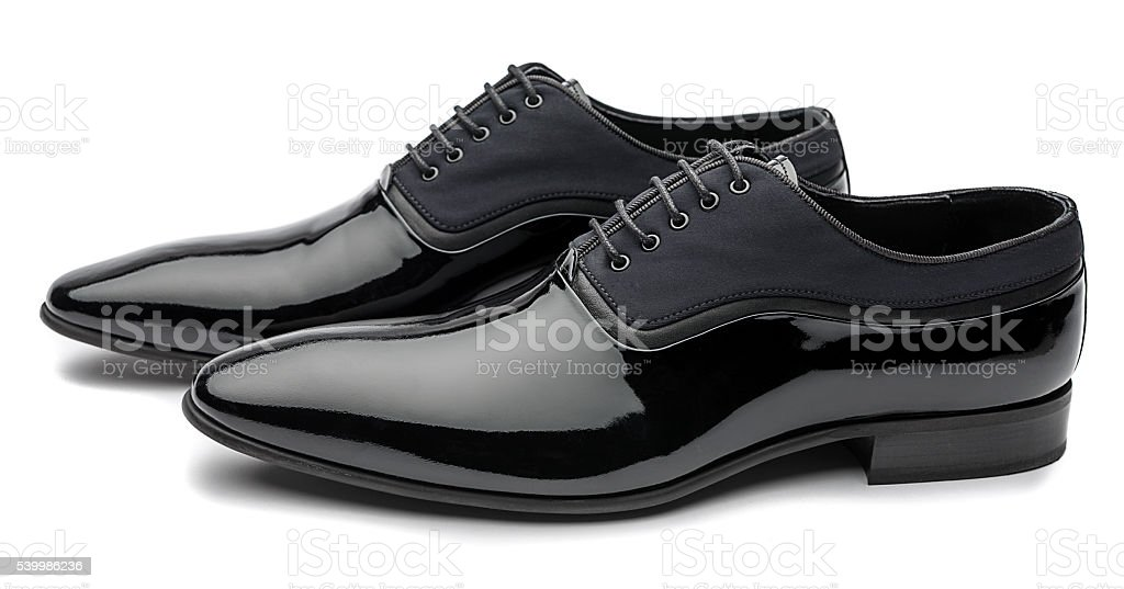 Patent Leather Men Shoes Isolated stock photo