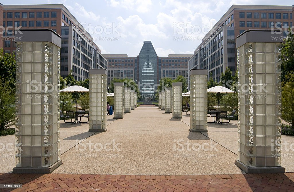 Patent Office from Delany Street stock photo