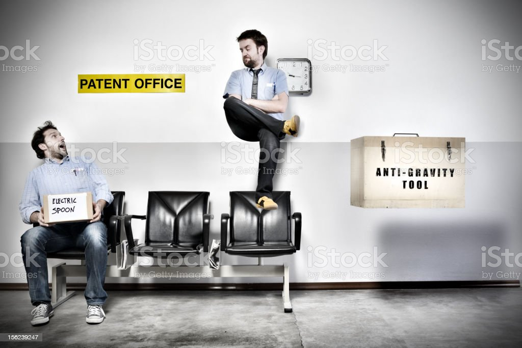Patent Office Series: Anti-gravity tool stock photo