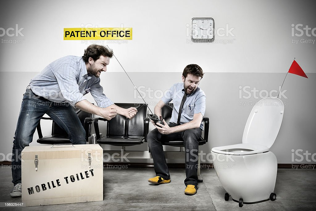 Patent Office Series: Mobile Toilet stock photo