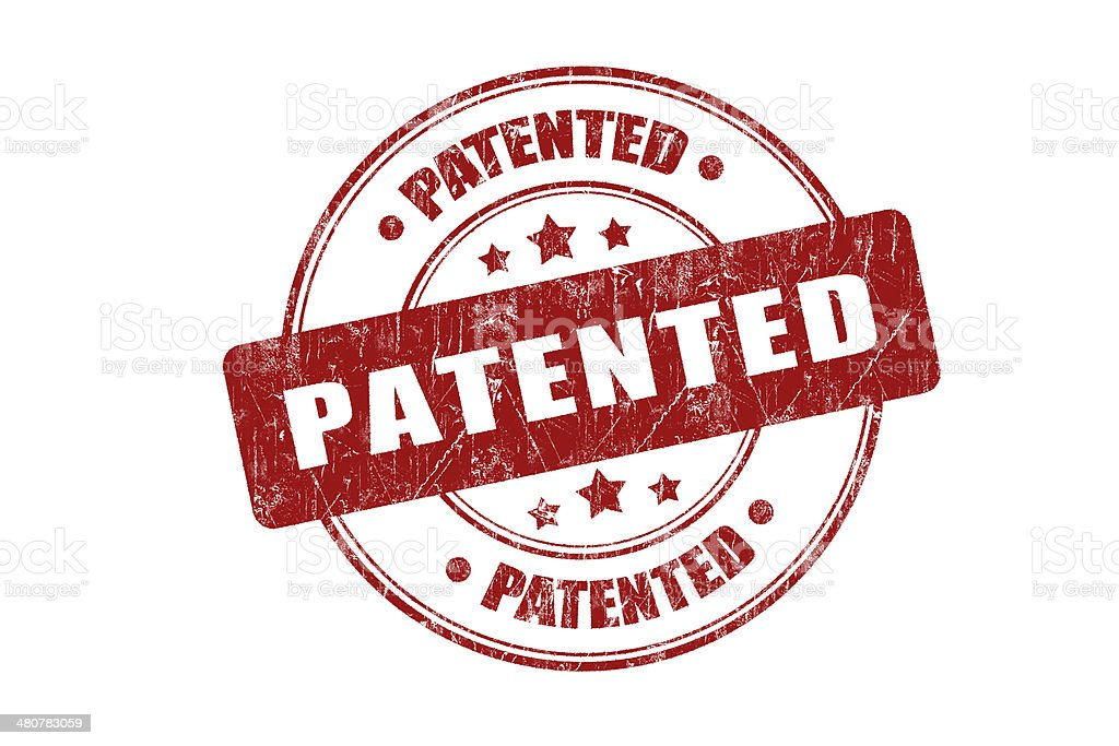 Patented Rubber Stamp royalty-free stock photo