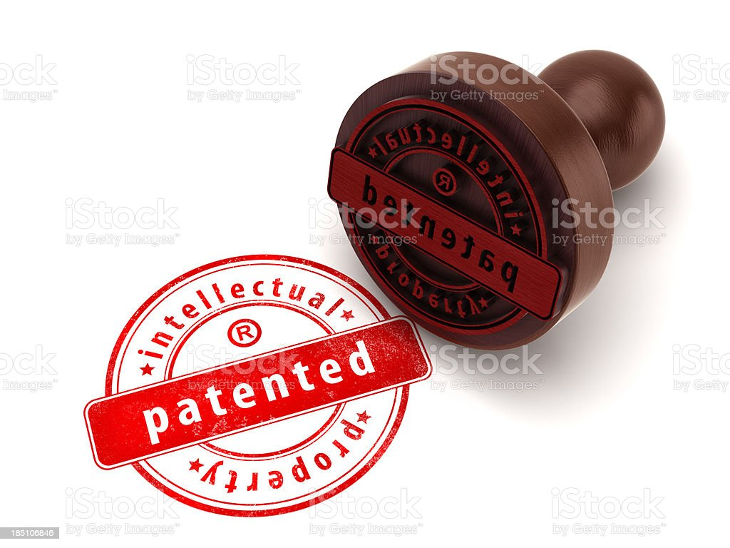 Patented stamp stock photo