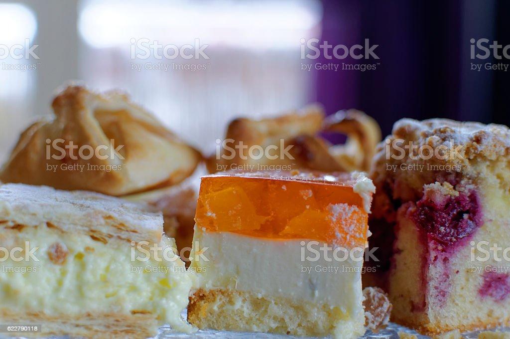 Patera z ciastami stock photo