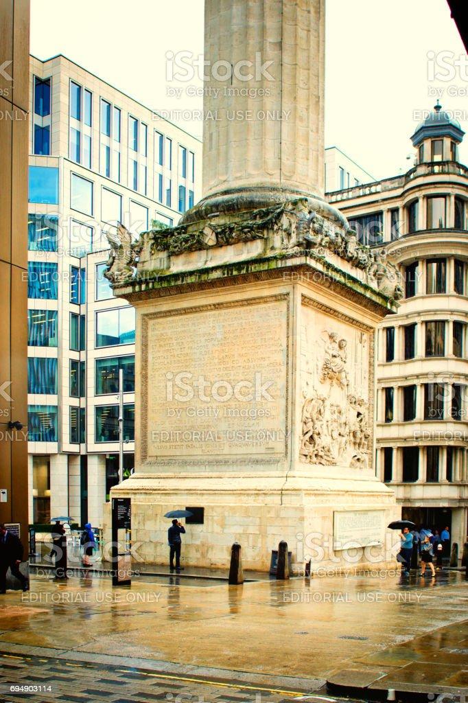 Paternoster place, London stock photo