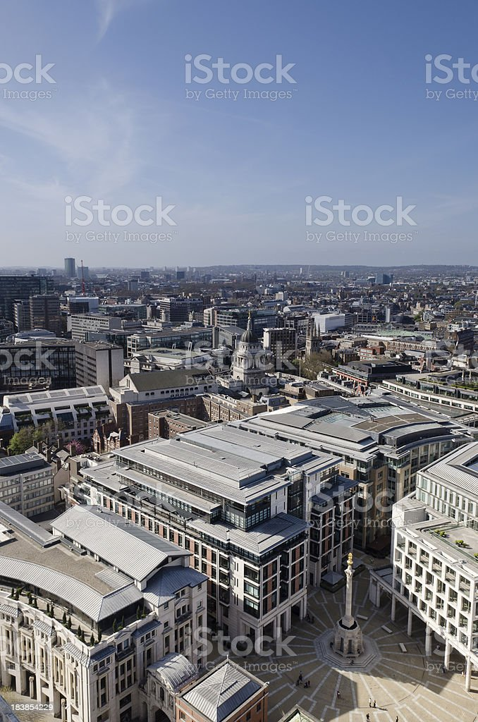 Paternoster Square London, view from St Pauls Cathedral royalty-free stock photo