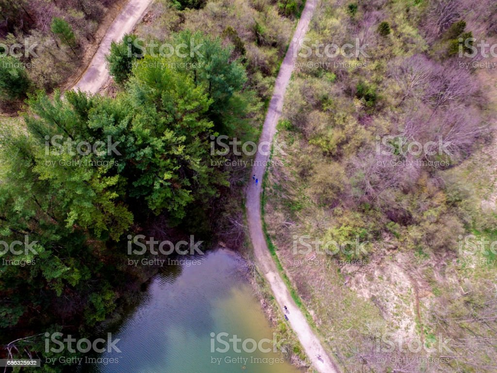 Path Aerial stock photo