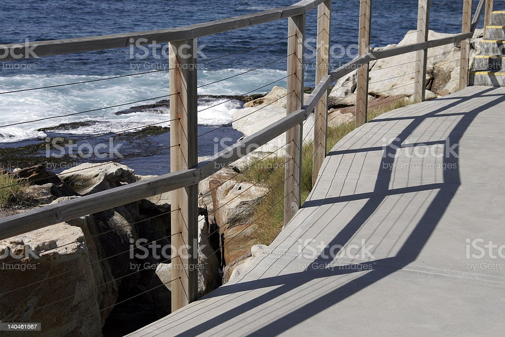 Path Along The Coast royalty-free stock photo