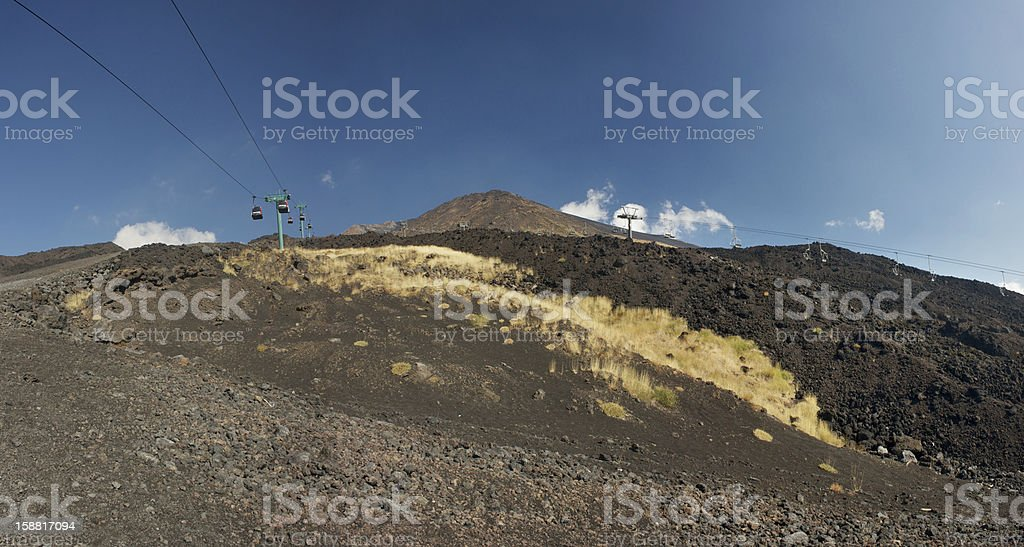 Path bellow the lift to Mt. Etna's peak royalty-free stock photo