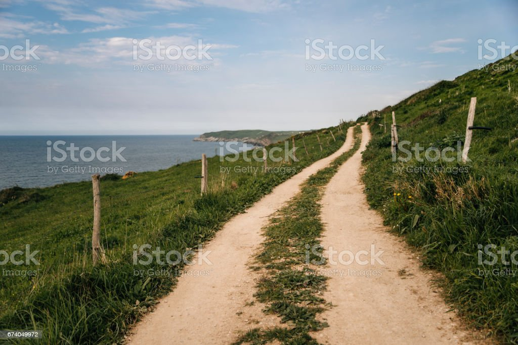 Path by the sea stock photo