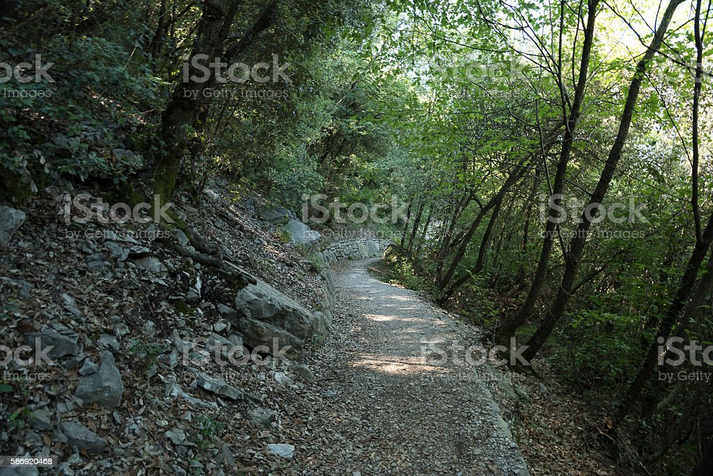 Path from 'Torbole' to 'Storm', Italy, Lake Garda, stock photo