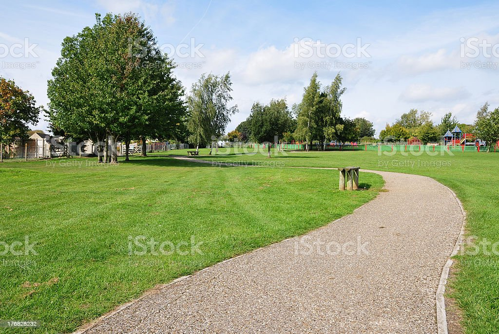 Path in a Green Park stock photo