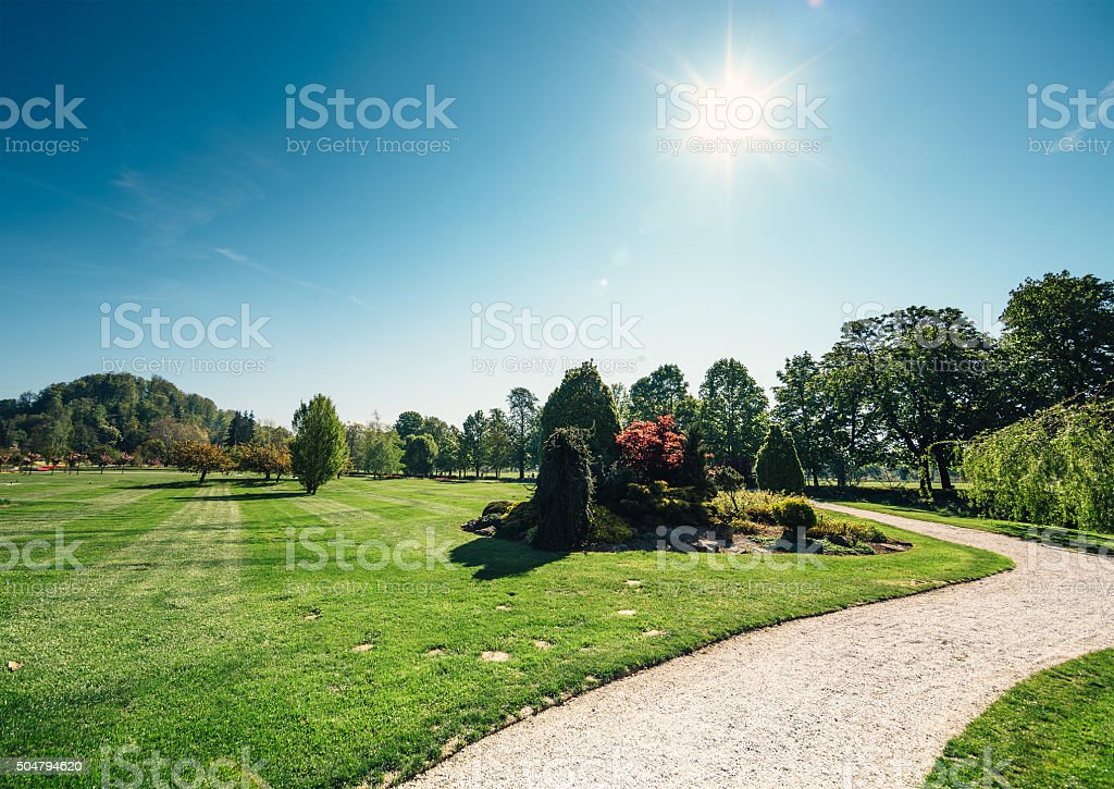 Path In Park stock photo