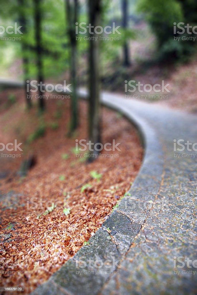 Path in Sacro Monte di Varallo Sesia, Italy. royalty-free stock photo