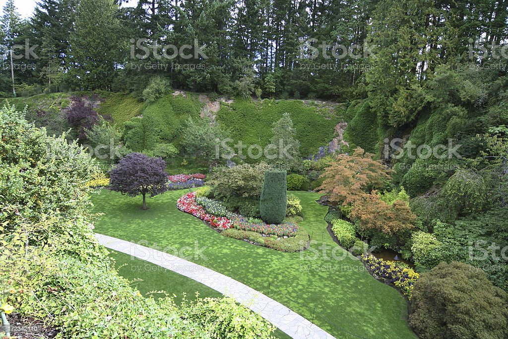 Path in the Butchart Garden royalty-free stock photo