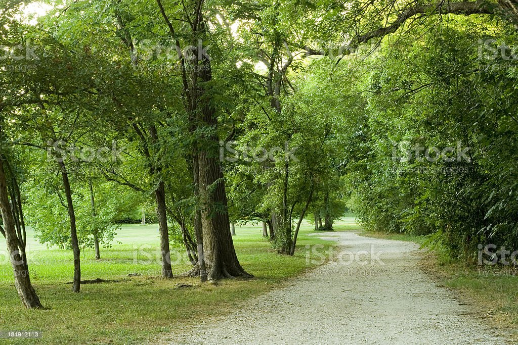 path in the park royalty-free stock photo