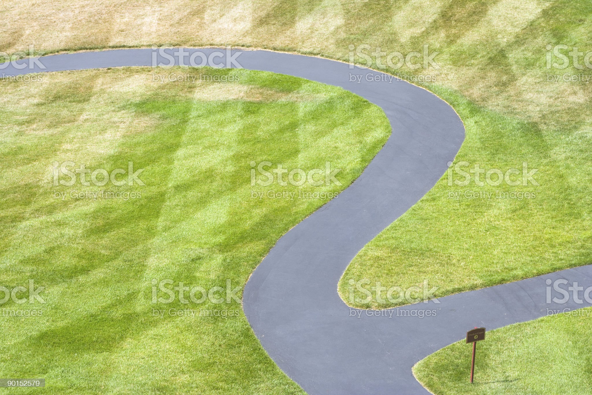 Path in the shape of number two royalty-free stock photo