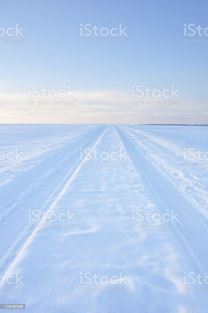 path in the winter royalty-free stock photo
