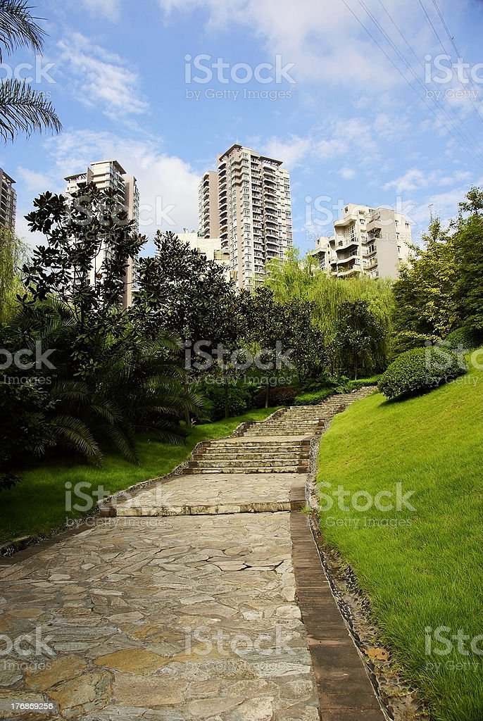 path lead to the new house,chongqing of china royalty-free stock photo