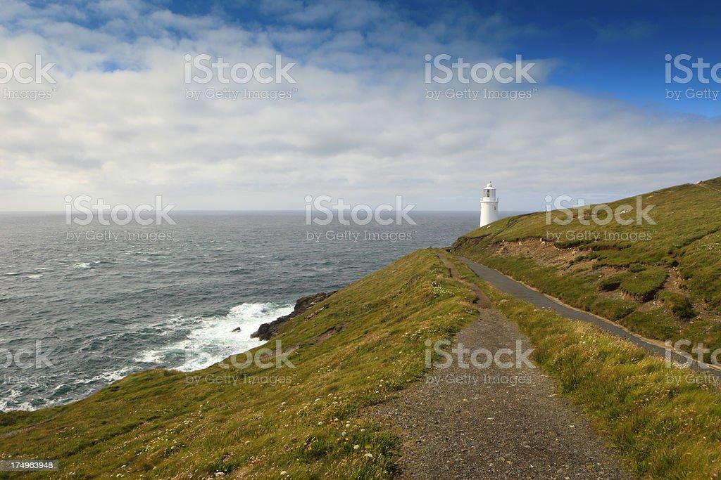 path leading to Trevose Head Lighthouse royalty-free stock photo