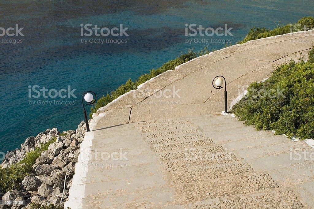 Path near the sea. royalty-free stock photo