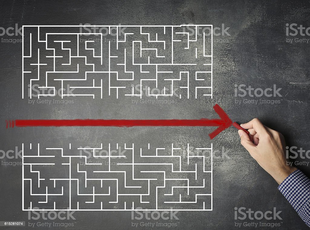Path of least resistance stock photo