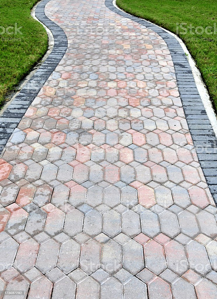 Path of Pavers royalty-free stock photo